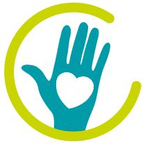 pictogramme main avec un coeur