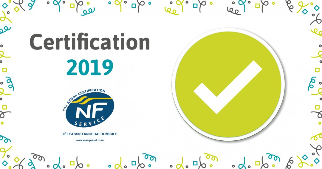 certification NF Service Teleassistance 2019 Association Alerte